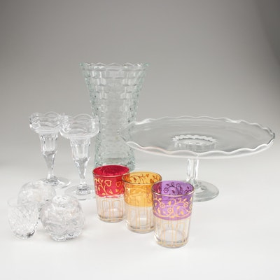 """Waterford """"Comeragh"""" Shot Glass with Other Candle Holders and Table Accessories"""