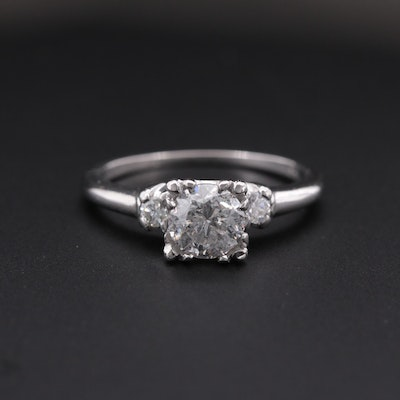 Vintage Platinum 1.00 CTW Diamond Ring