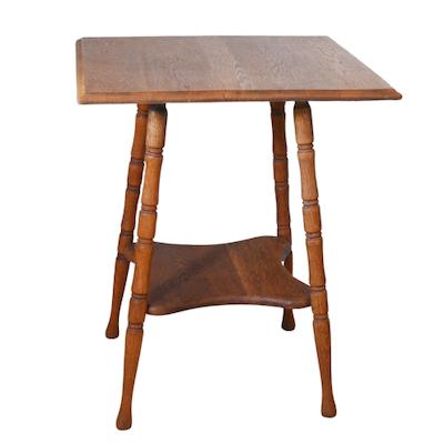 Victorian Oak Side Table, Early 20th Century