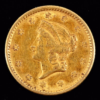 1851 Liberty One Dollar Gold Coin
