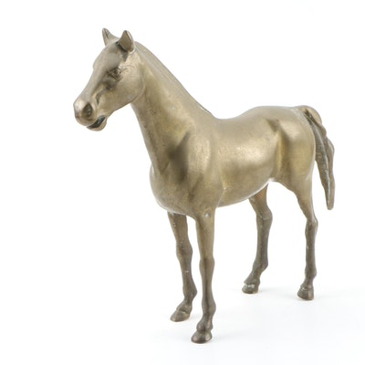 Cast Brass Horse Figurine
