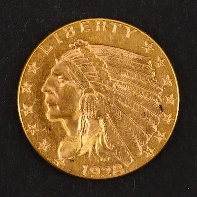 1928 Indian Head $2 1/2 Gold Coin