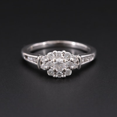 14K White Gold Diamond Ring