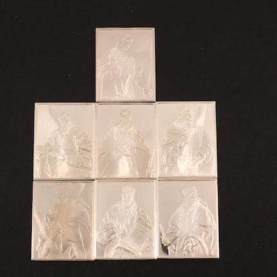 Seven First Edition Proof El Greco Saints Sterling Silver Ingots