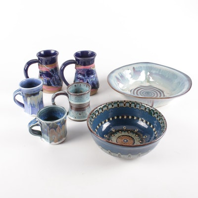 Phil Mayhew Hand Thrown Porcelain Art Pottery and Other Art Pottery