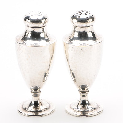 Barbour Silver Co. Arts and Crafts Style Sterling Silver Salt and Pepper Shakers