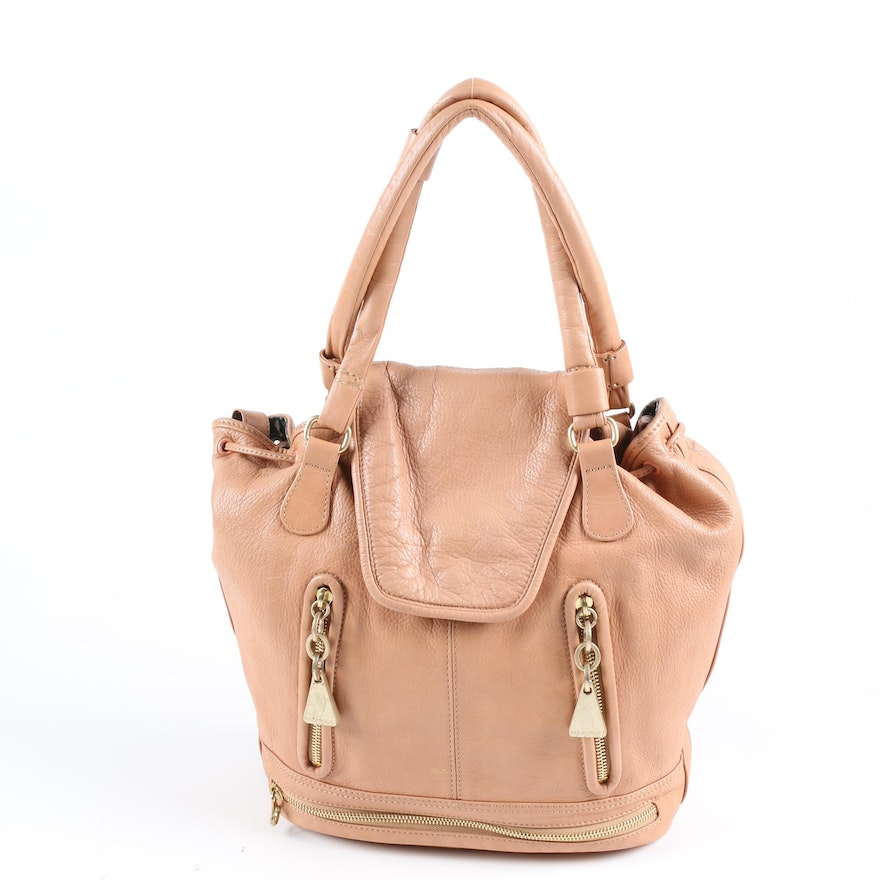 See by Chloé Cherry Satchel in Nude Leather with Tassels
