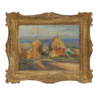 Cesare Mario Cristini Country Landscape Oil Painting