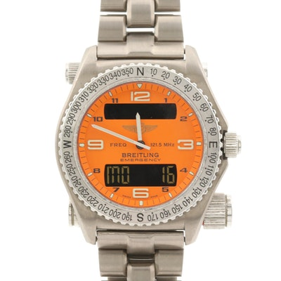 Breitling Emergency Titanium Multifunction Quartz Wristwatch