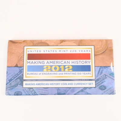 U.S. Mint 2012 Making American History Coin and Currency Set