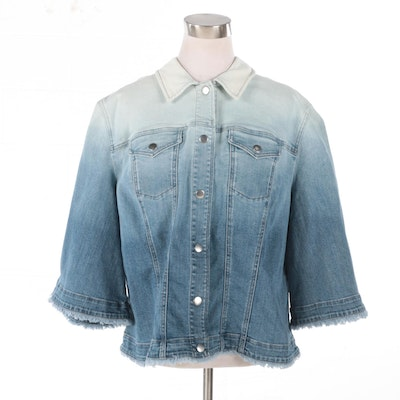 Chico's Ombré Denim Jacket