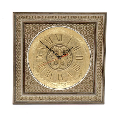 Persian Marquetry Wall Clock
