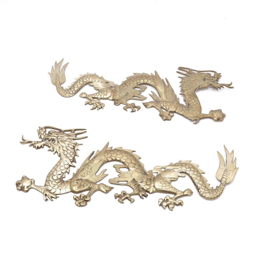 Brass Dragon Wall Hangings