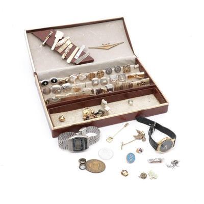 Preissler-Pforzheim,Tie Clips, Cufflinks, Service Pins & Watches