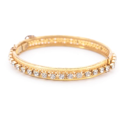 Vintage Miriam Haskell Hinged Bangle Bracelet