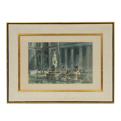 "James McBride Watercolor Painting ""Lincoln Life"""