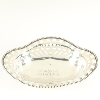 Howard Sterling Co. Reticulated Sterling Silver Bowl, 1878–1902