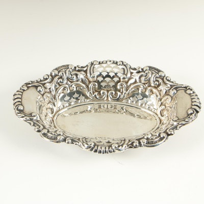 Dominick & Haff Reticulated Sterling Silver Bowl, 1868–1928