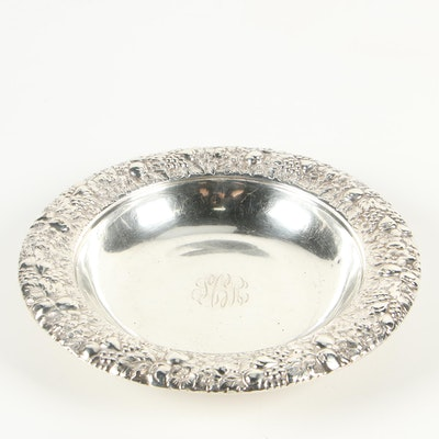 Meriden Britannia Co. Repoussé Sterling Silver Bowl, 1895–1930s