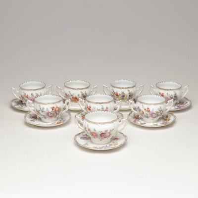 Rosenthal China Bavarian Porcelain Teacups and Saucers