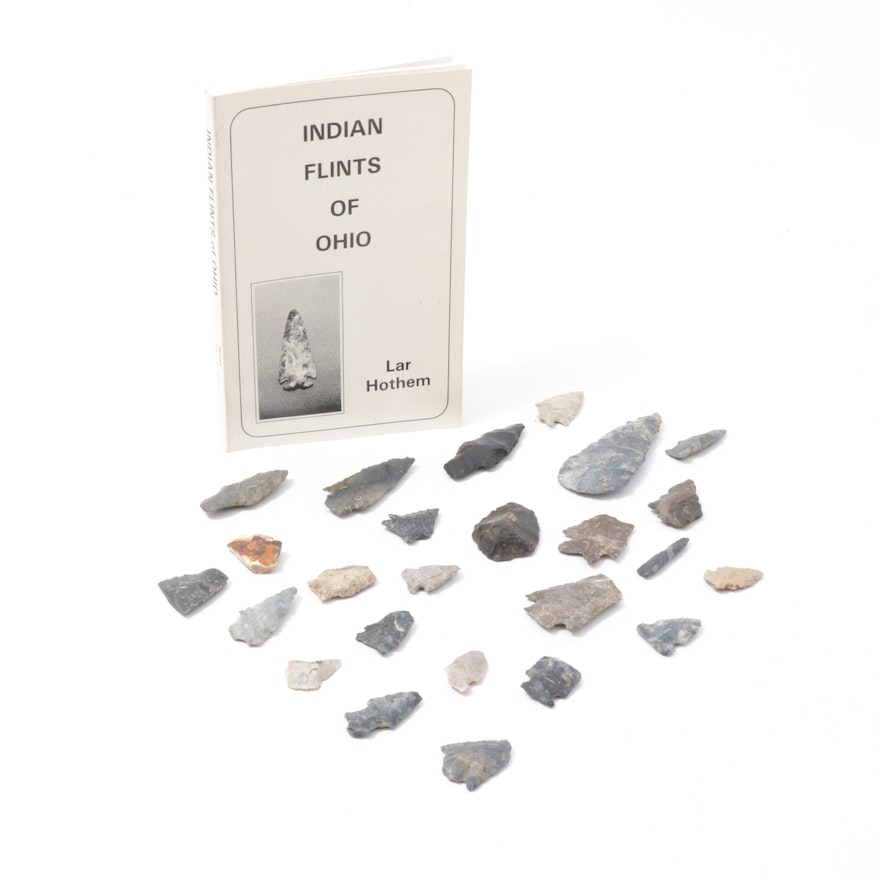 """Flint and Chert Projectile Points and """"Indian Flints of Ohio"""" by Lar Hothem"""