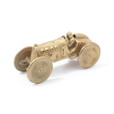 Indy 500 Brass Race Car Figurine