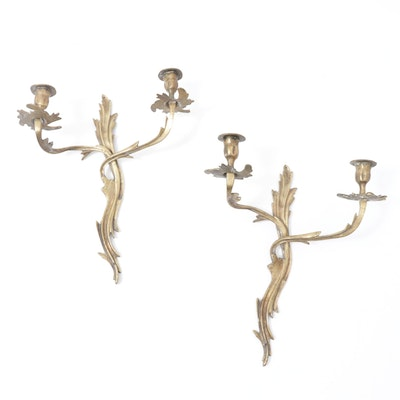 Brass Louis XVI Style Wall Sconces