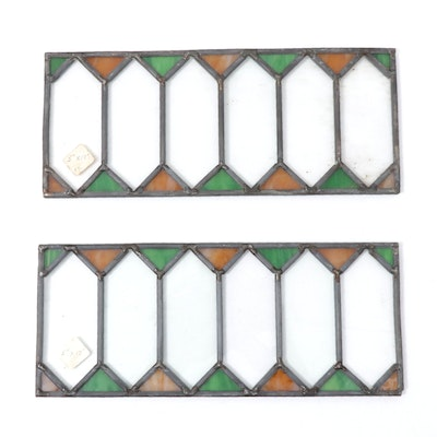 Leaded Stained Glass Ornamental Window Panels