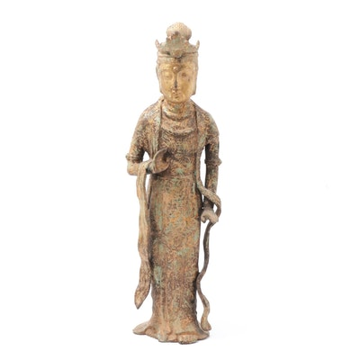 Iron Guan Yin Bodhisattva Figure