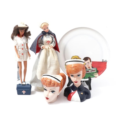 Nurse Barbie Collection and Barbie and Ken Christmas Plate