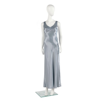 Rampage Ice Blue Slip Dress Style Evening Dress