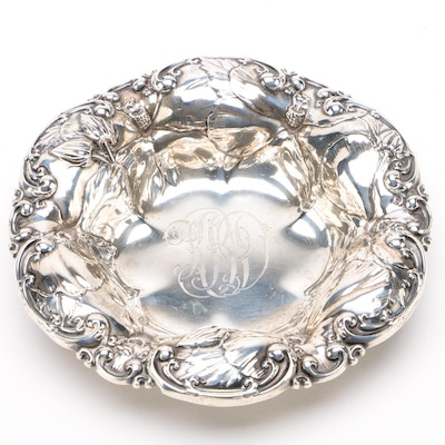 Whiting Mfg. Co. Repoussé Sterling Silver Bonbon Bowl, 1866–1926