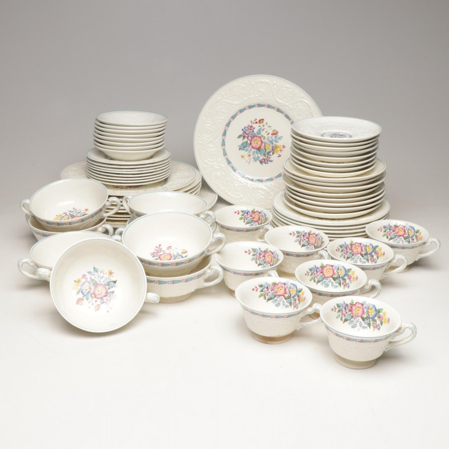 "Wedgwood Patrician ""Morning Glory"" Pattern China Dinnerware"