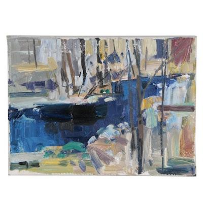 """Jose Trujillo Oil Painting """"Winter Landscape"""""""