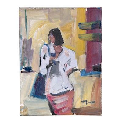 "Jose Trujillo Oil Painting ""Chic Views"""