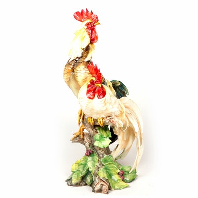Italian Ceramic Roosters Figurine
