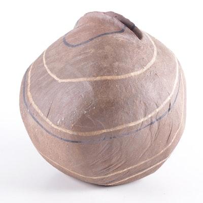 "June Krutza Stoneware Art Pottery Vessel ""Rock Pot"""