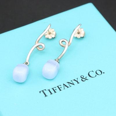 Tiffany & CO. Sterling Silver Agate Drop Earrings