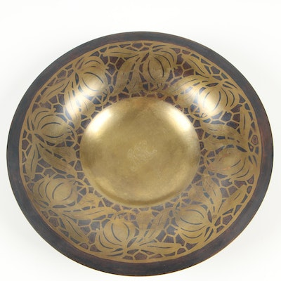 Tiffany & Co. Monogrammed Patinated Bronze Bowl, Late 19th Century
