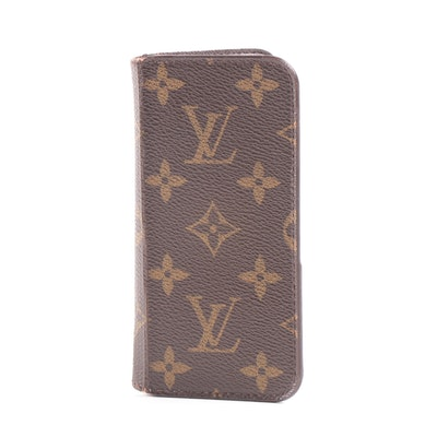 Louis Vuitton Paris Monogram Canvas Iphone Folio Case