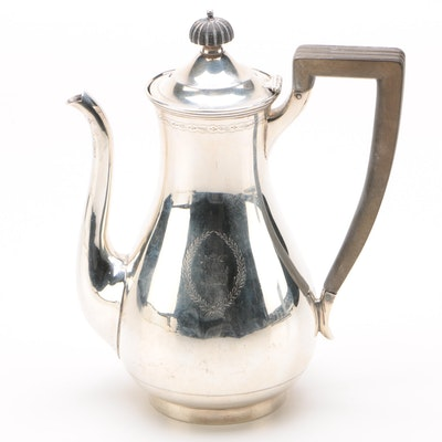Sterling Coffee Pot from Wedding Service of Dr. George Richard Minot, 1915