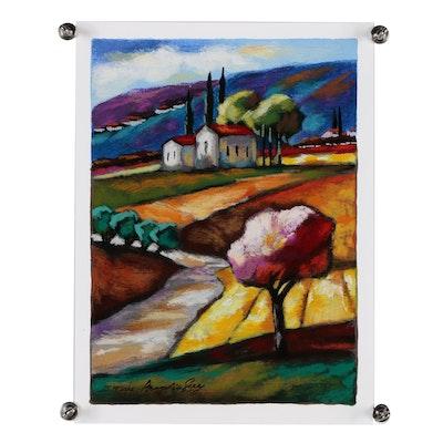 Slava Brodinsky Landscape Serigraph