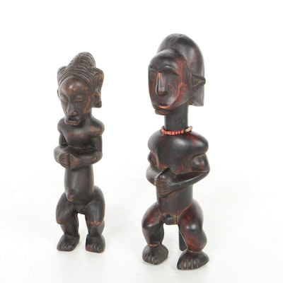 "West African Baule Style ""Blolo"" Spirit Spouse Figures"