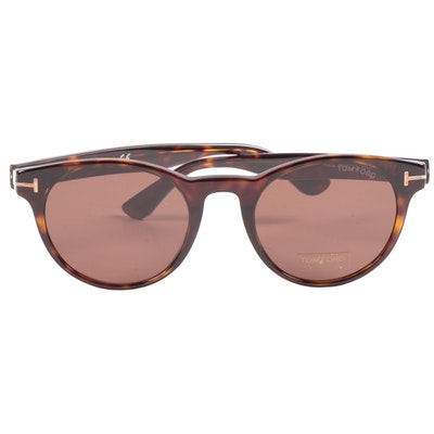 Tom Ford TF522 Palmer Dark Brown Havana Sunglasses with Case and Box