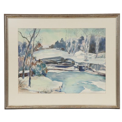 Kaufmann Watercolor Painting of Landscape