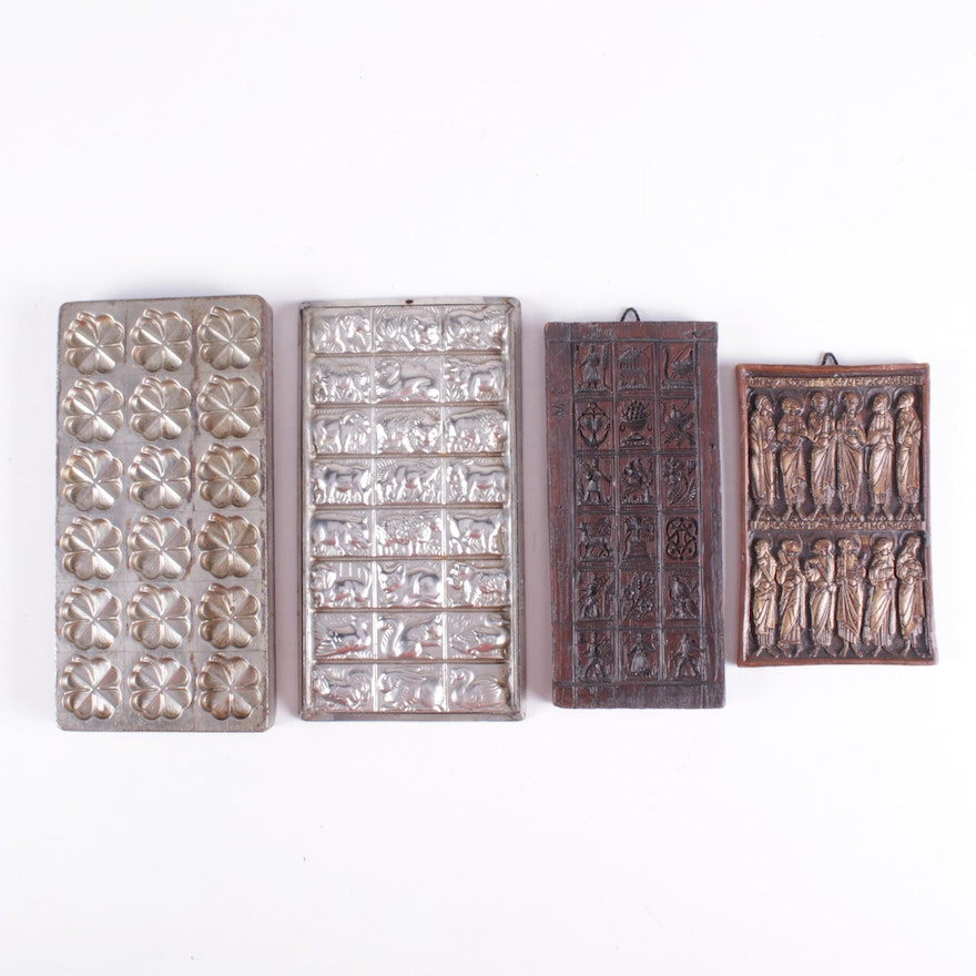 Tarvin Wax Studio Plaques and Anton Reiche Chocolate Molds