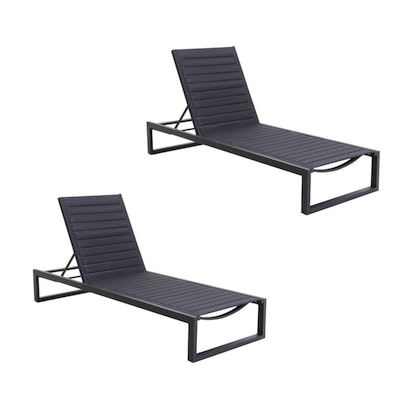 "Matthew Hilton for Case ""Eos"" Chaise Lounges in Black"