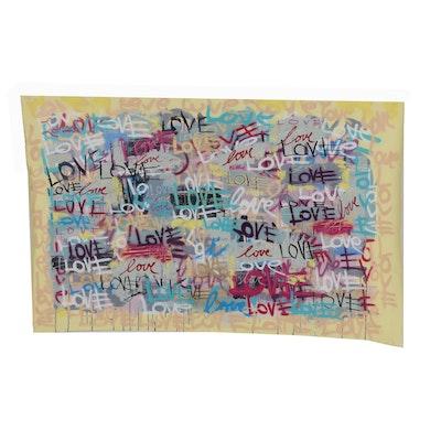 R.C. Raynor 2018 Graffiti Style Mixed Media Painting