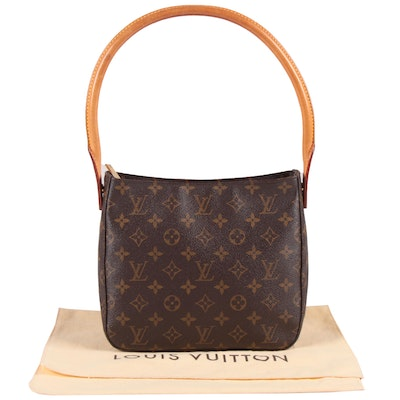 Louis Vuitton Paris Monogram Canvas and Leather Looping MM Shoulder Bag