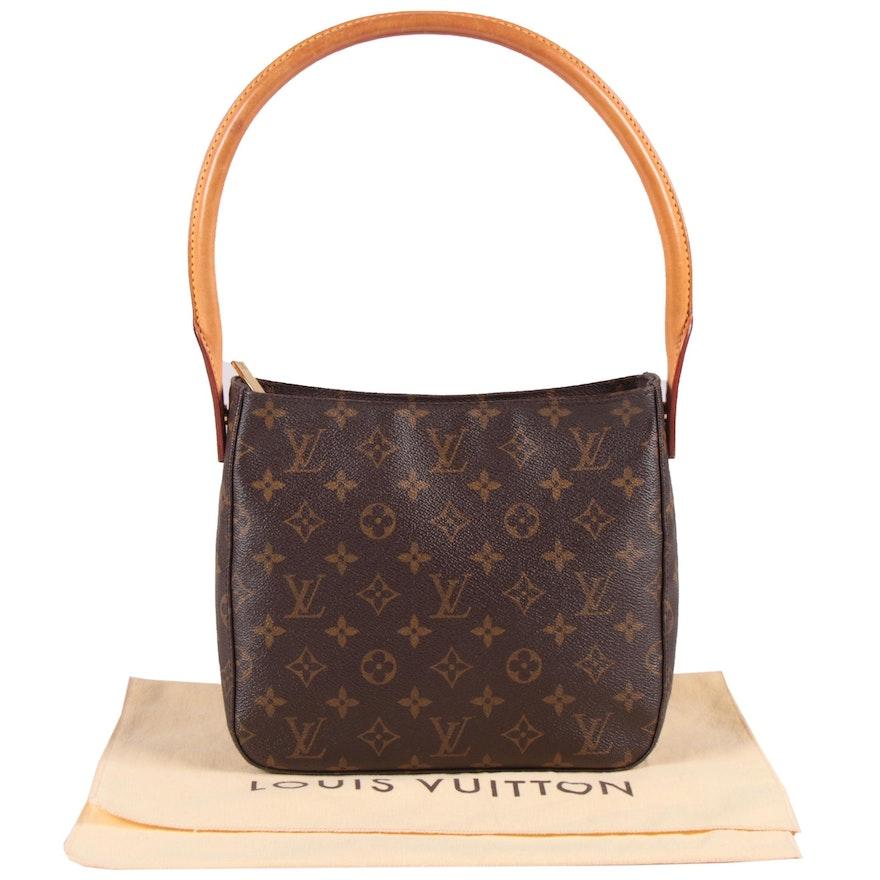 Louis Vuitton Paris Monogram Canvas and Leather Looping MM Shoulder Bag